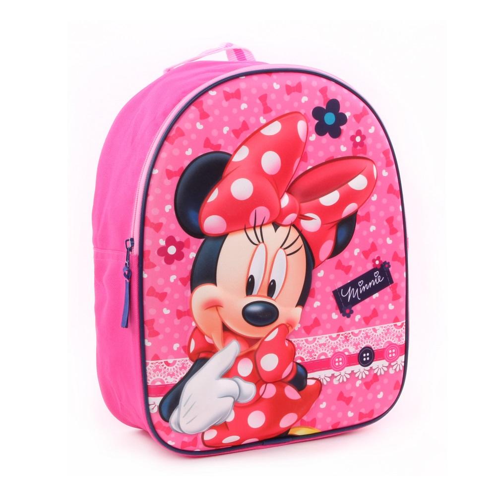 Ryggsäck barn Minnie Mouse rosa 3D