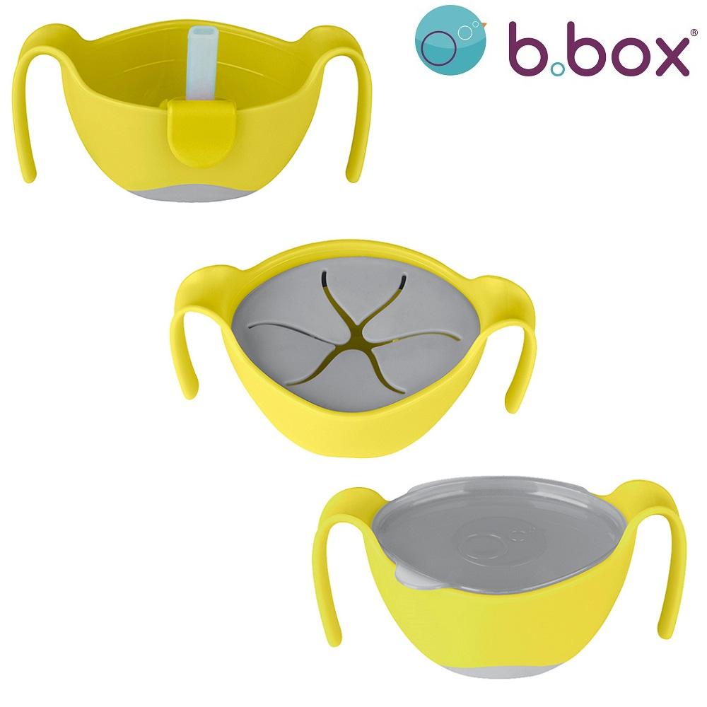 Matskål till barn B.box Bowl and Straw Lemon Sherbet
