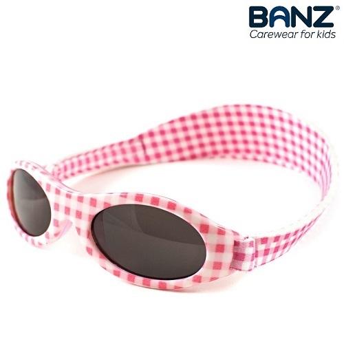 Lasten aurinkolasit BabyBanz Pink Checkers vaaleanpunainenpunainen
