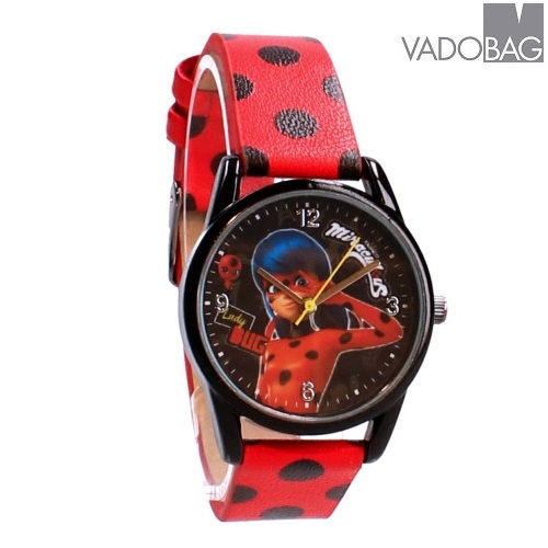 Lasten rannekello Miracolous Ladybug punainen