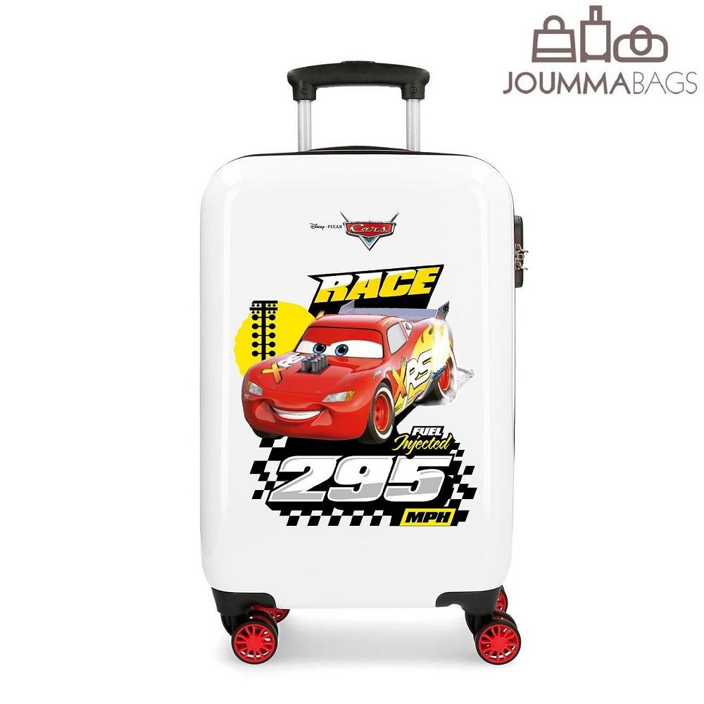 Lasten ABS matkalaukku 55 cm Cars 3 punainen valkoinen
