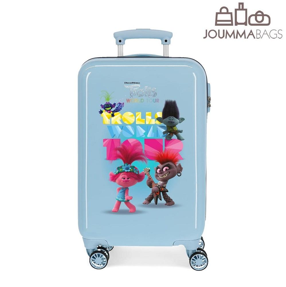 Lasten ABS matkalaukku 55 cm Trolls World Tour vaaleansininen