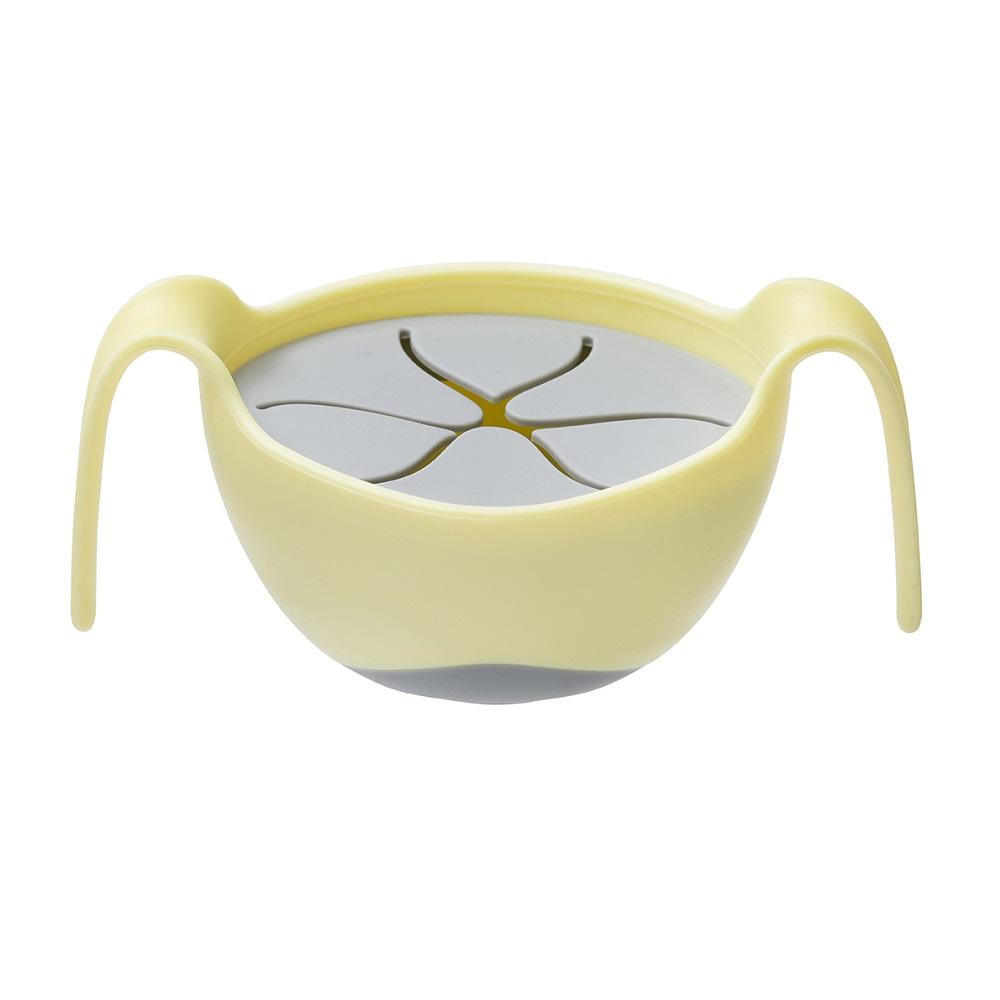 Barnskål med sugrör och snackslock B.box Bowl and Straw Banana Split