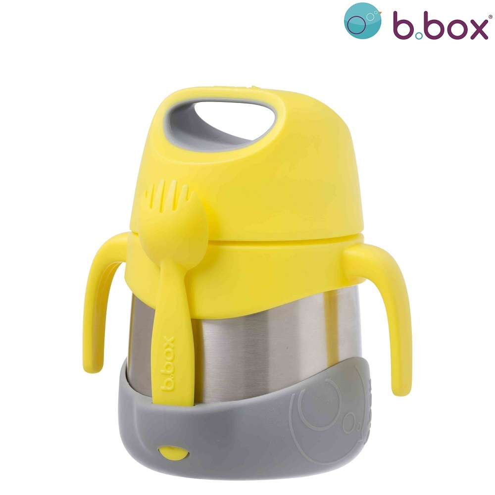 Lasten ruokatermos lusikalla B.box Insulated Food Jar keltainen