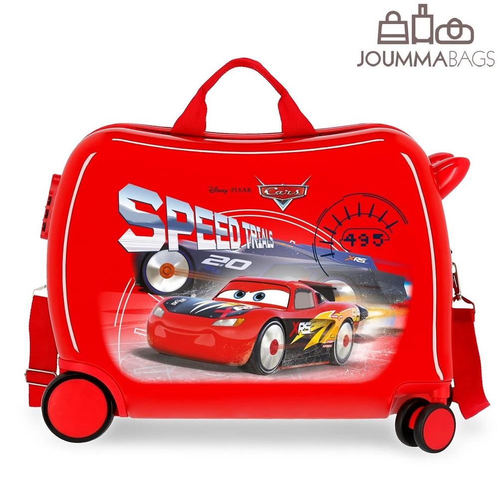 Lasten matkalaukku ABS paallaistuttava Cars 3 punainen