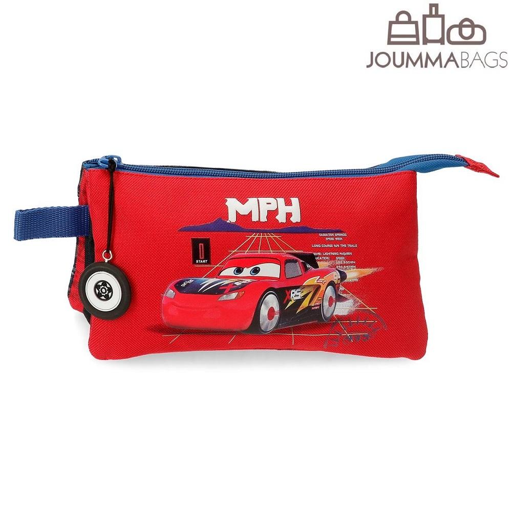 Lasten toilettilaukku 3 lokeroa Autot 3 Rocket racing punainen