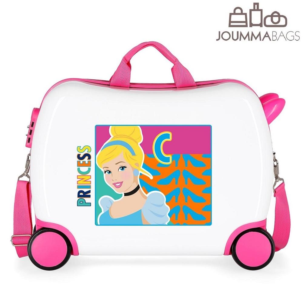 Lasten lentolaukku paallaistuttava Princesses valkoinen vaaleanpunainen