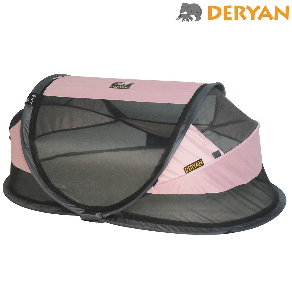 Matkasänky Deryan Baby Luxe vaaleanpunainen