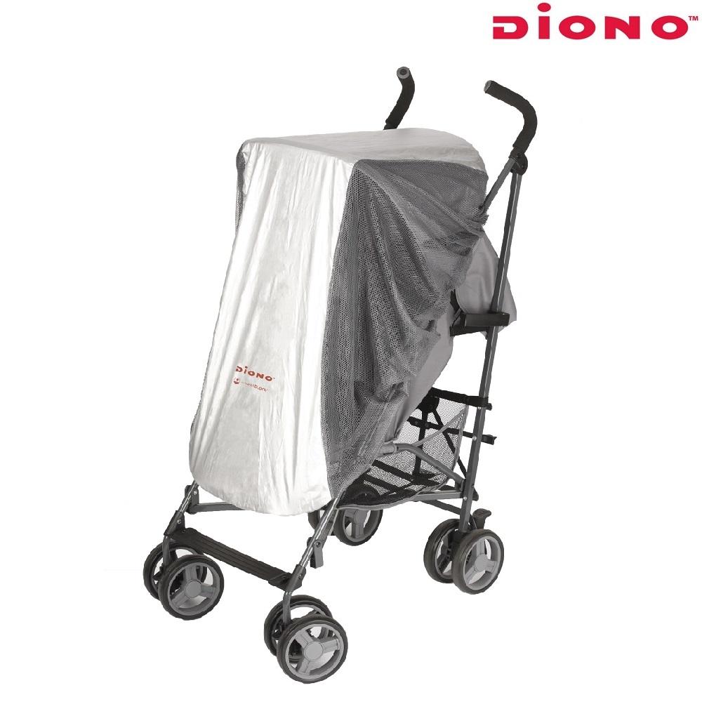 Aurinkosuoja ja hyttysverkko rattaisiin ja turvakaukaloon Diono