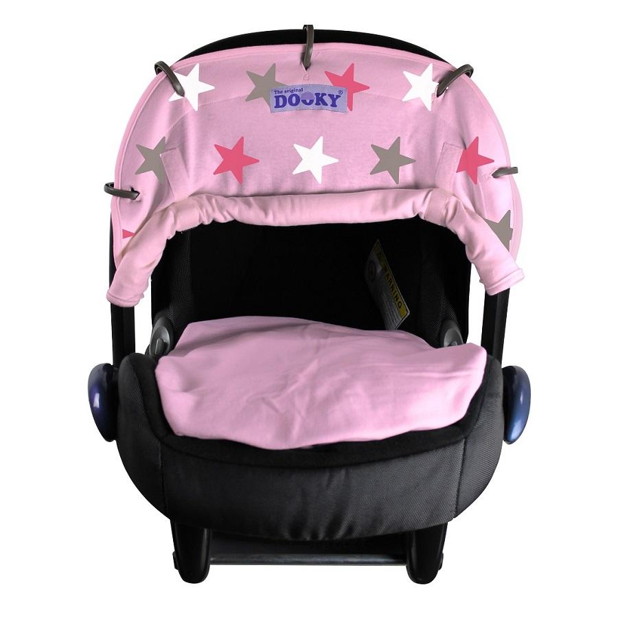Vaunuverho Dooky Pink stars vaaleanpunainen