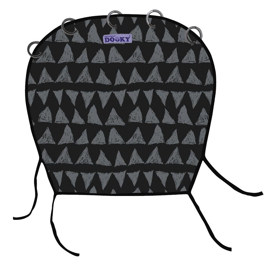 Vaunuverho Dooky Black Tribal musta