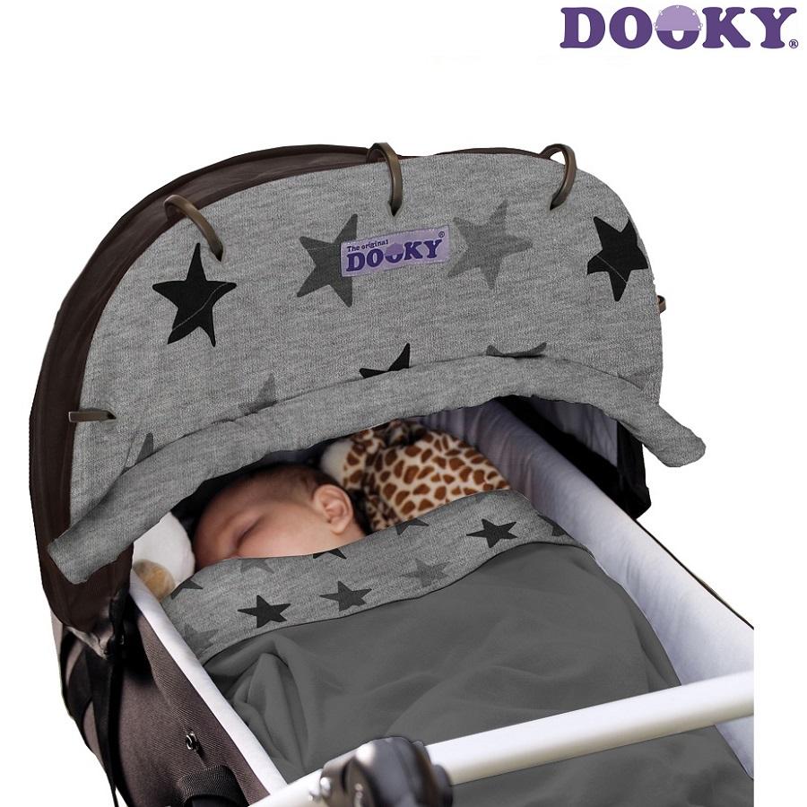 Vaunuverho Dooky Grey Stars harmaat tahdet