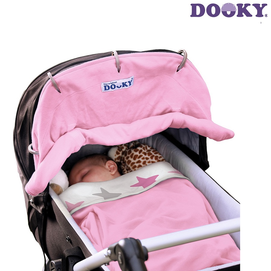 Vaunuverho Dooky Baby pink vaaleanpunainen