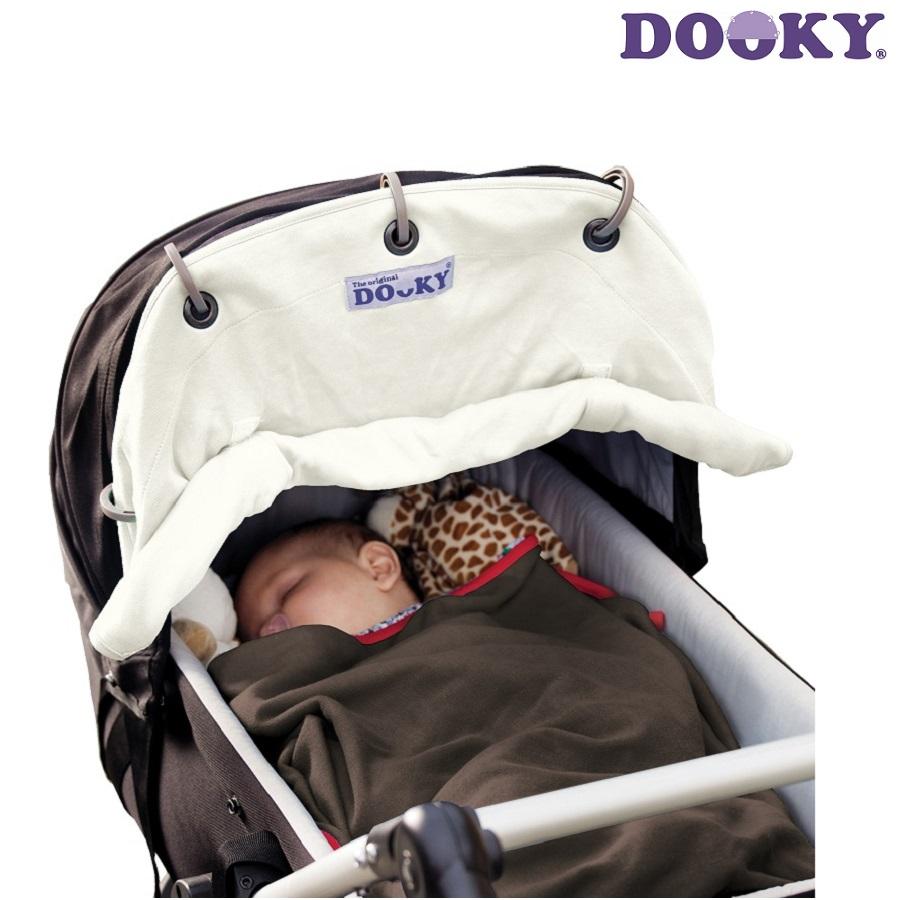 Vaunuverho Dooky Creme valkoinen