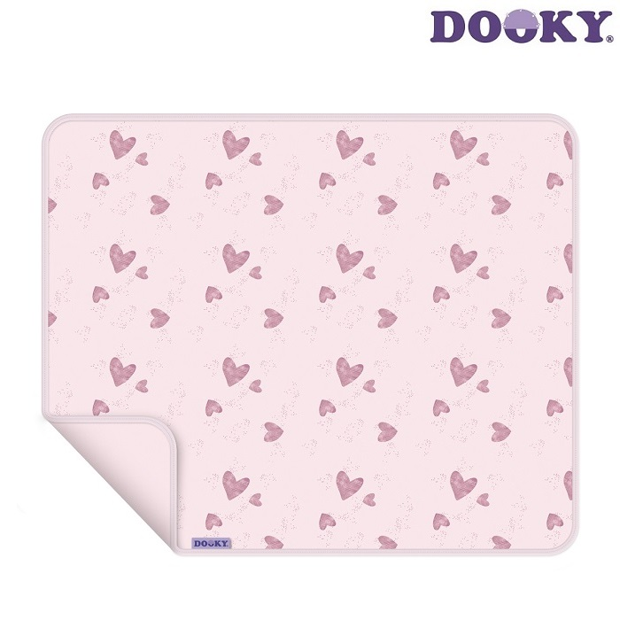 Vauvanpeitto Dooky vaaleanpunainen sydan