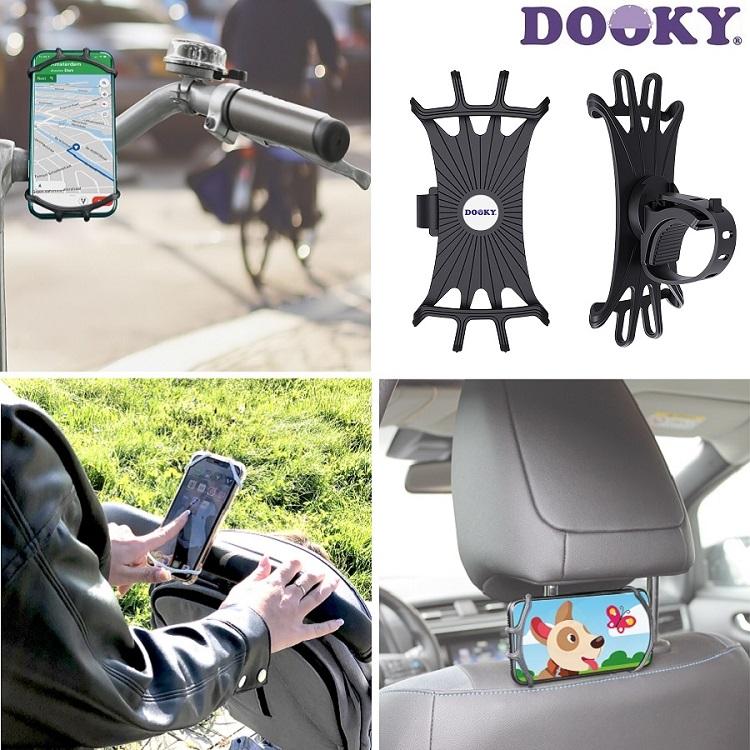 Dooky kännykkäteline rattaisiin ja pyörään musta