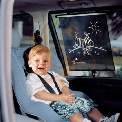 Solskydd bil Dreambaby Adjustable Car Shade Zebra rullgardin