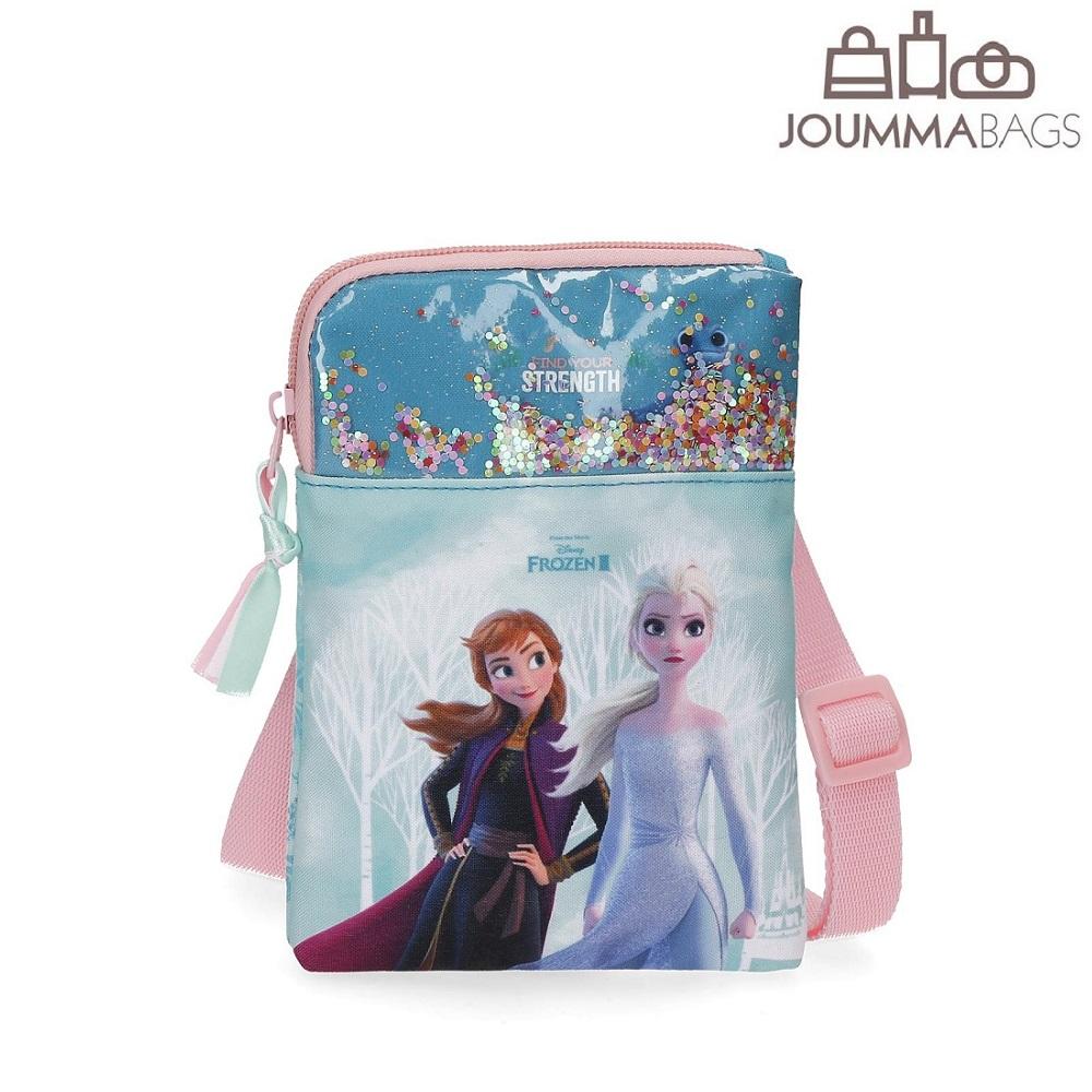 Lasten olkalaukku Frozen II Find the Strength vaaleansininen
