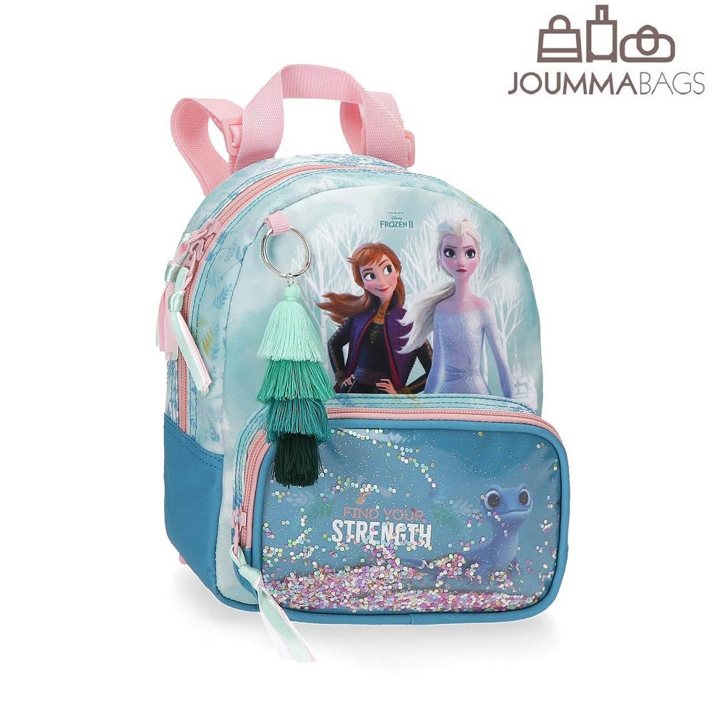 Lasten paivareppu Frozen II Find Your Strength 23cm vaaleansininen