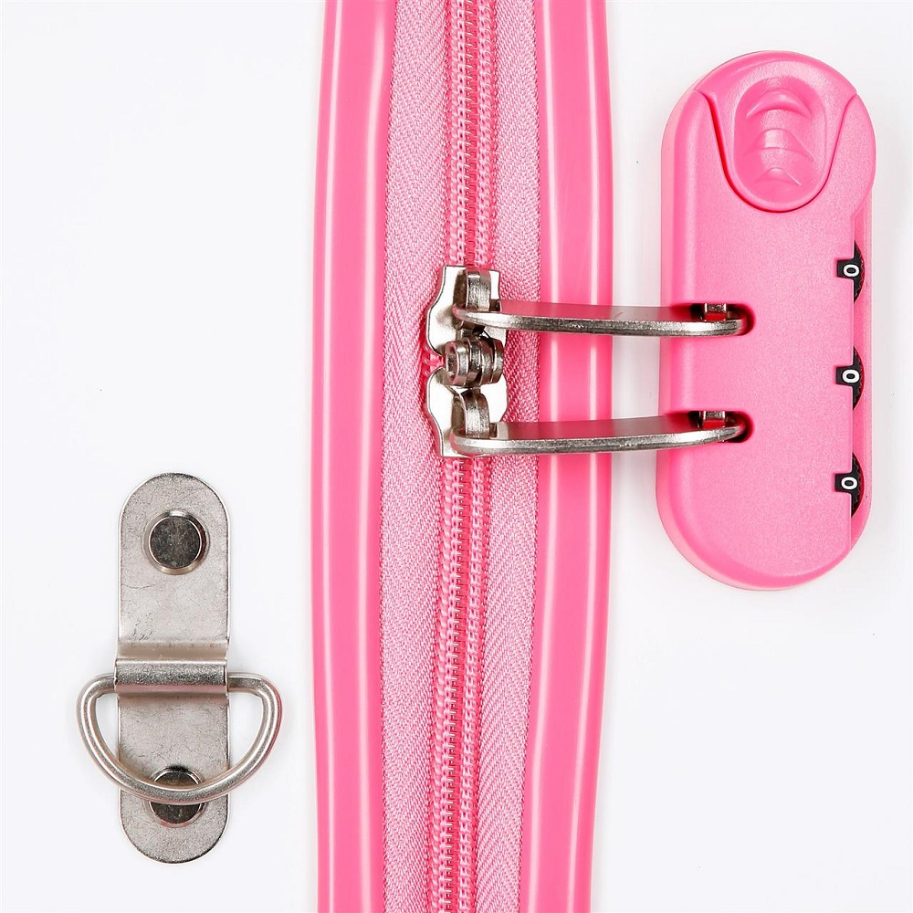 Lasten matkalaukku ja potkuauto frozen valkoinen ja vaaleanpunainen