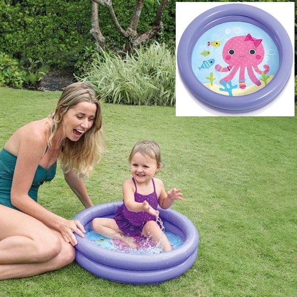 Puhallettava lasten uima-allas Intex Mustekala lilaa