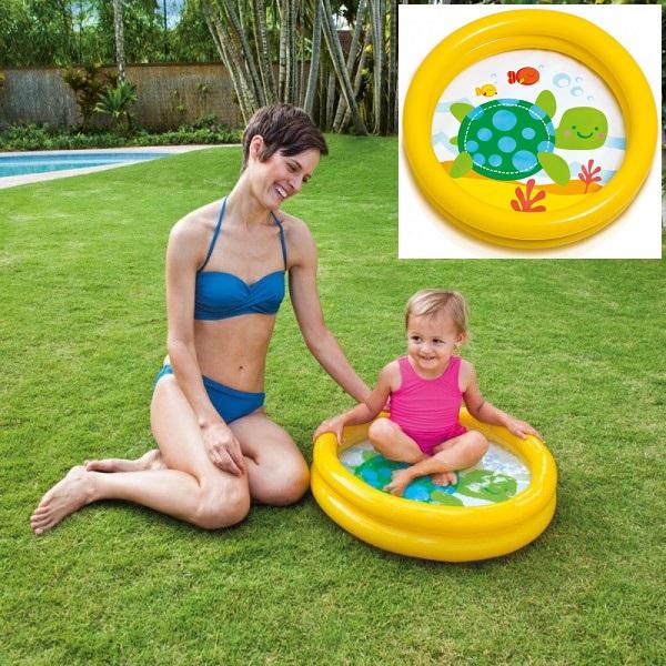 Puhallettava lasten uima-allas Intex Kilpikonna Keltainen