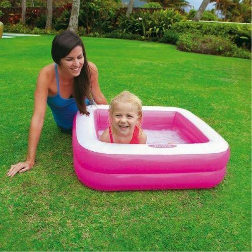 Puhallettava lasten uima-allas Intex vaaleanpunainen