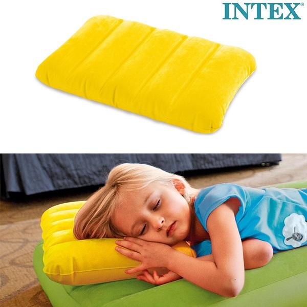 Lasten puhallettava matkatyyny Intex keltainen