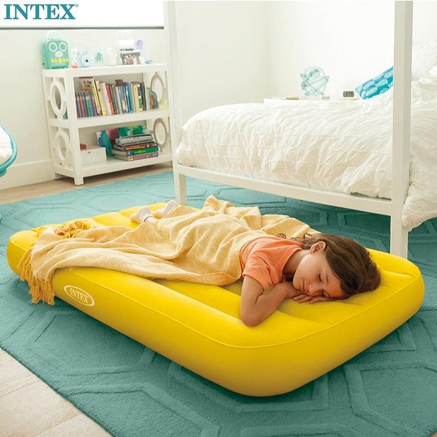 Lasten ilmapatja Intex Cozy Kidz keltainen