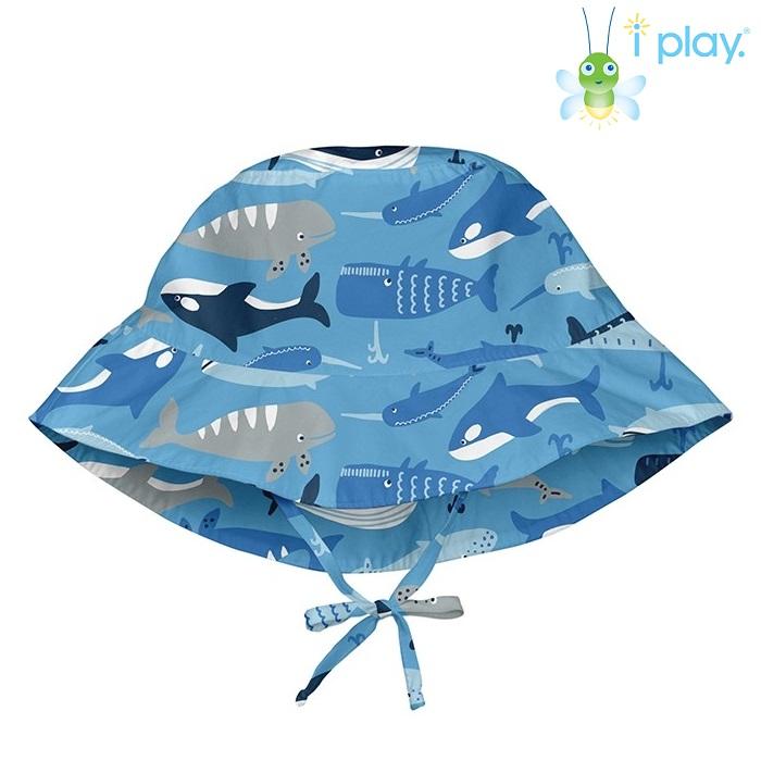 Lasten aurinkohattu UV suojalla Iplay hai sininen