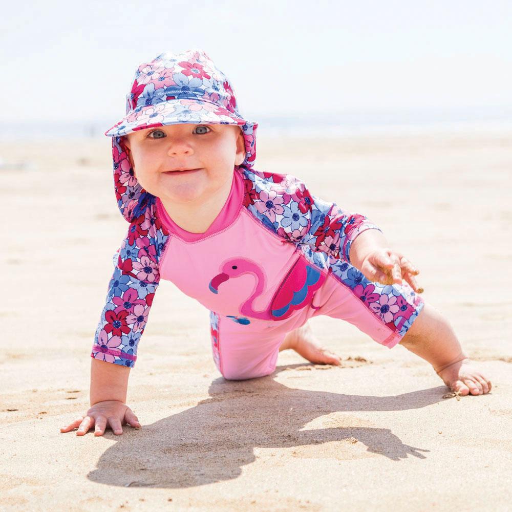 Jojo Maman Bébé Lasten Uimapuku - Flamingo