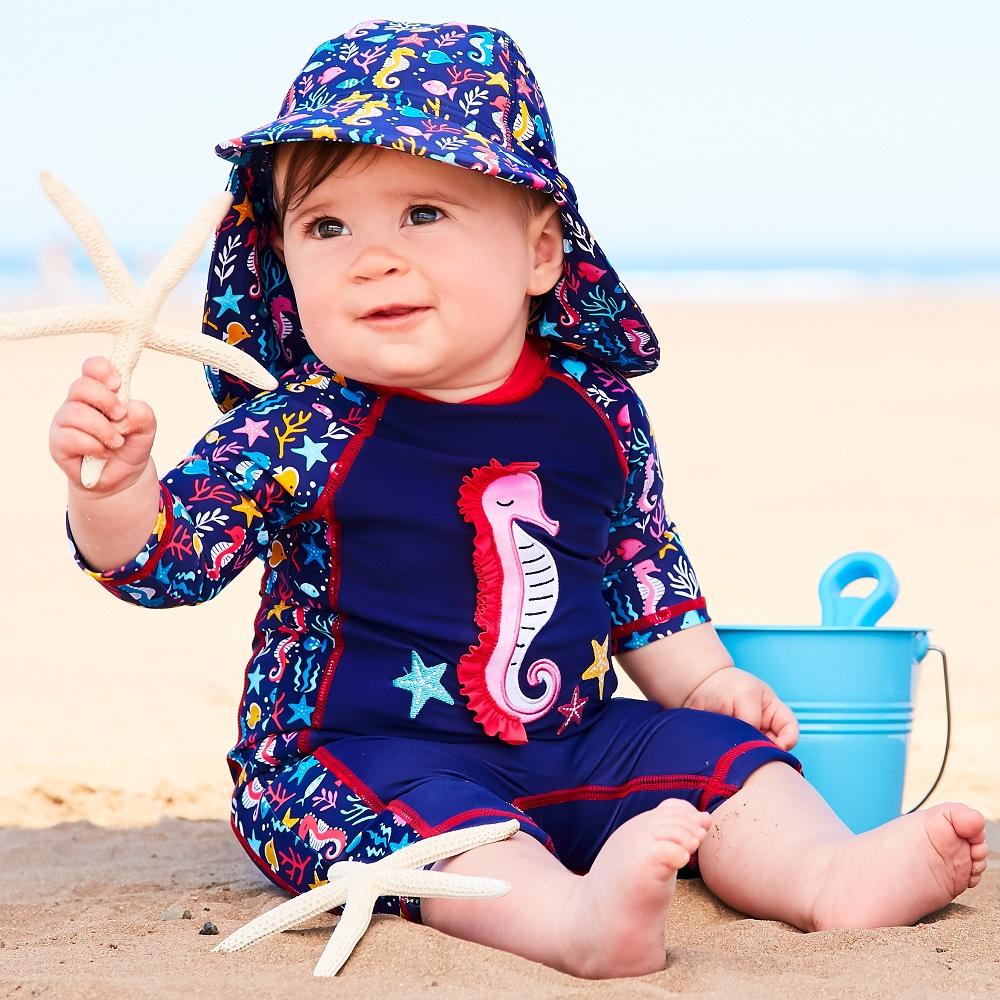 Lasten Uv uimapuku Jojo Maman Bebe Ocean sininen