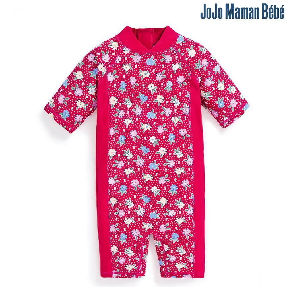 Lasten Uv uimapuku Jojo Maman Bebe Kukat vaaleanpunainent sininen