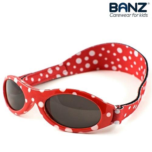 Lasten aurinkolasit KidzBanz Red Dots punainen