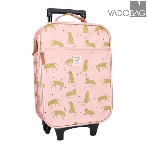 Lasten matkalaukku Kidzroom Leopard