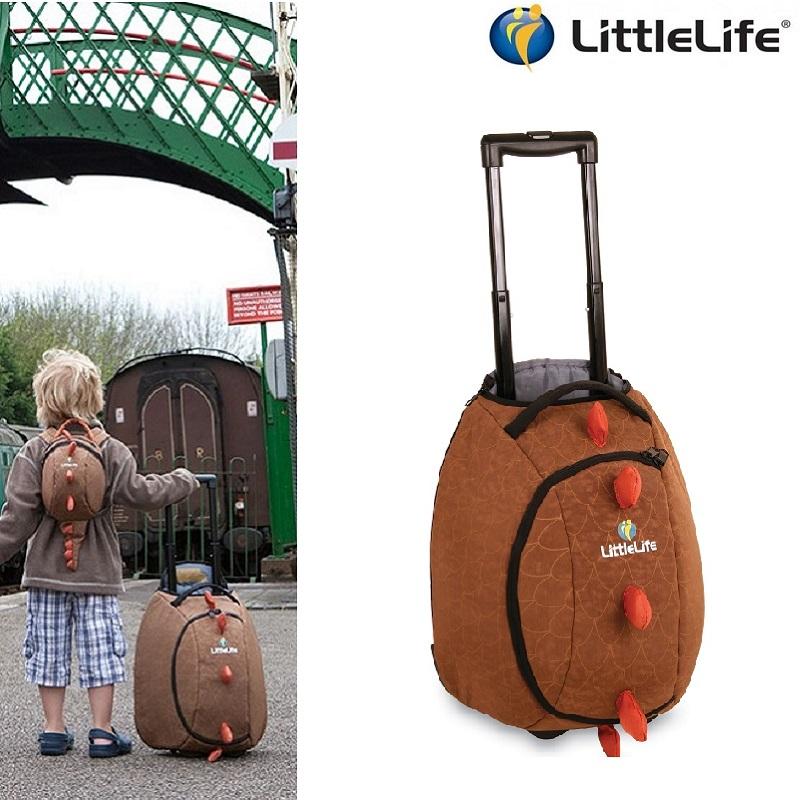 Resväska barn Littlelife Wheelie Duffle Dino