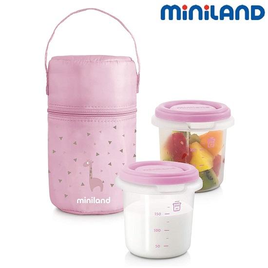 Kylmälaukku Miniland Pack-2-go vaaleanpunainen