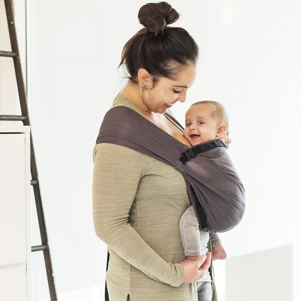 Bärsele bebis Minimonkey Mini Sling Grå