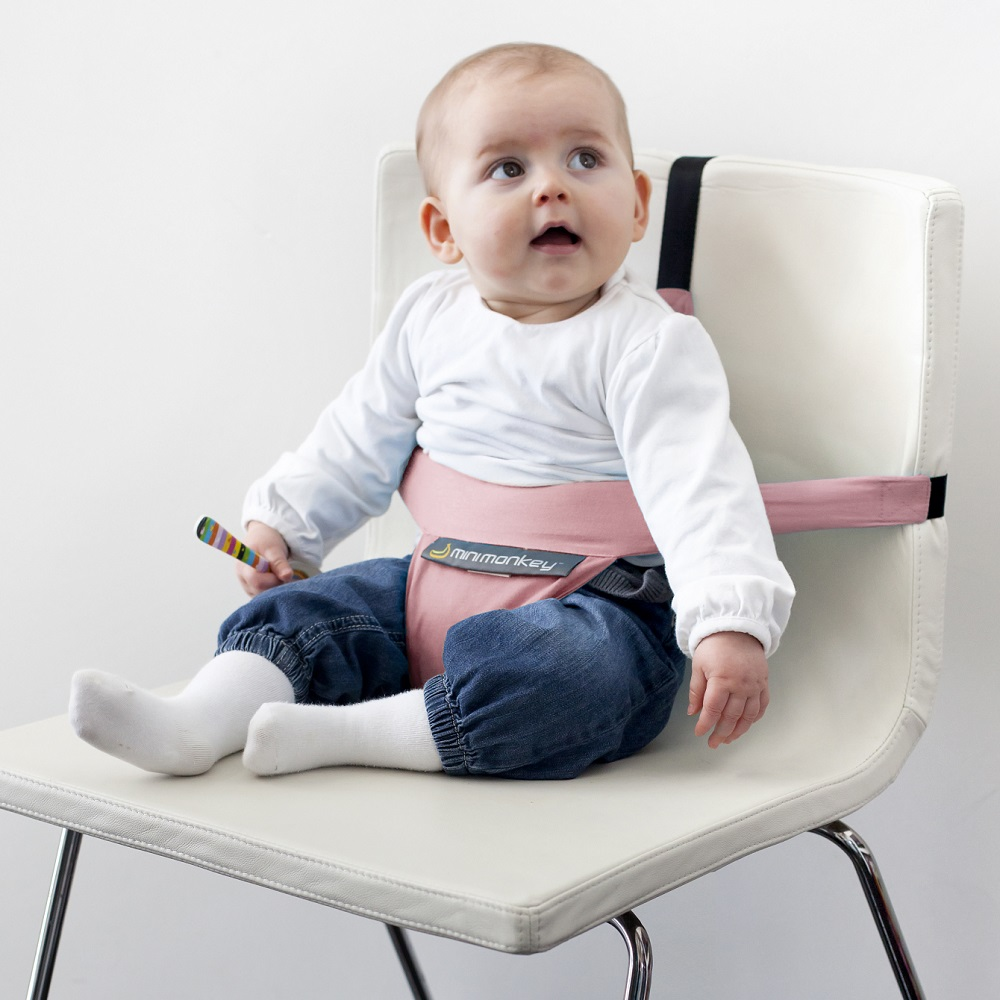 Resebarnstol Minimonkey Minichair Vintage Pink