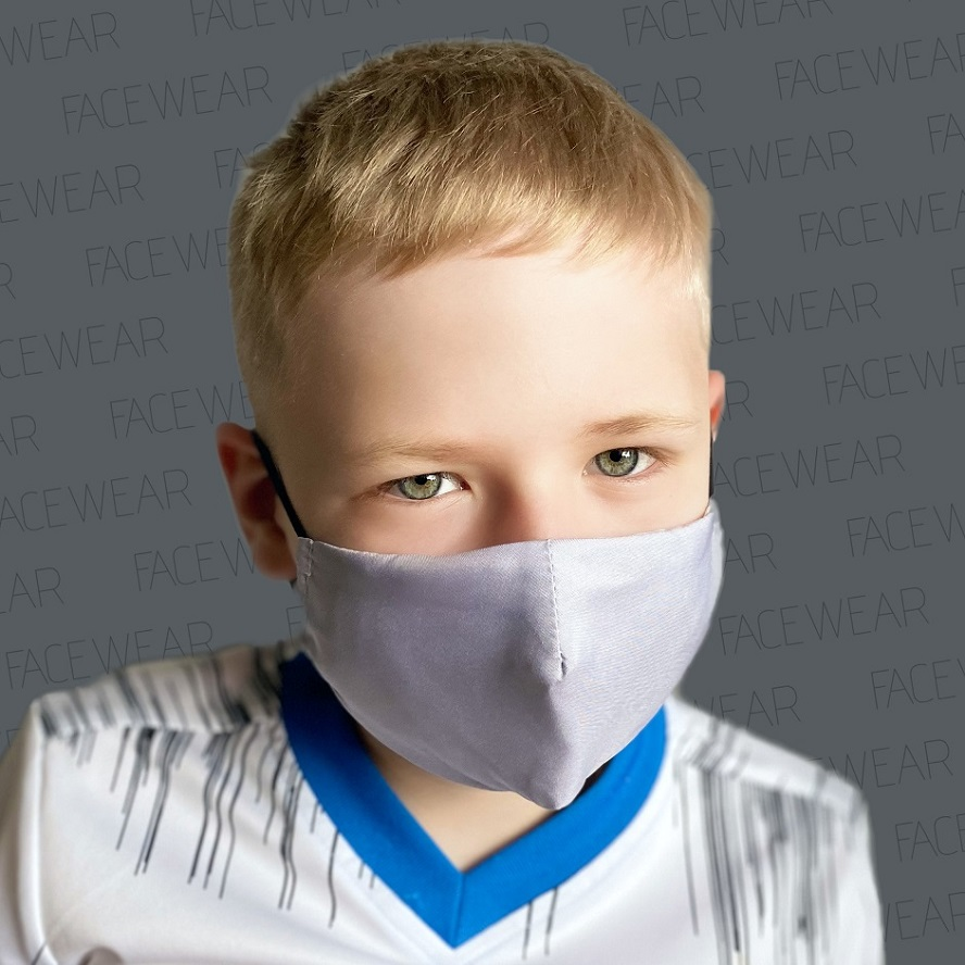 Lasten kasvomaski Facewear uudelleenkaytettava harmaa