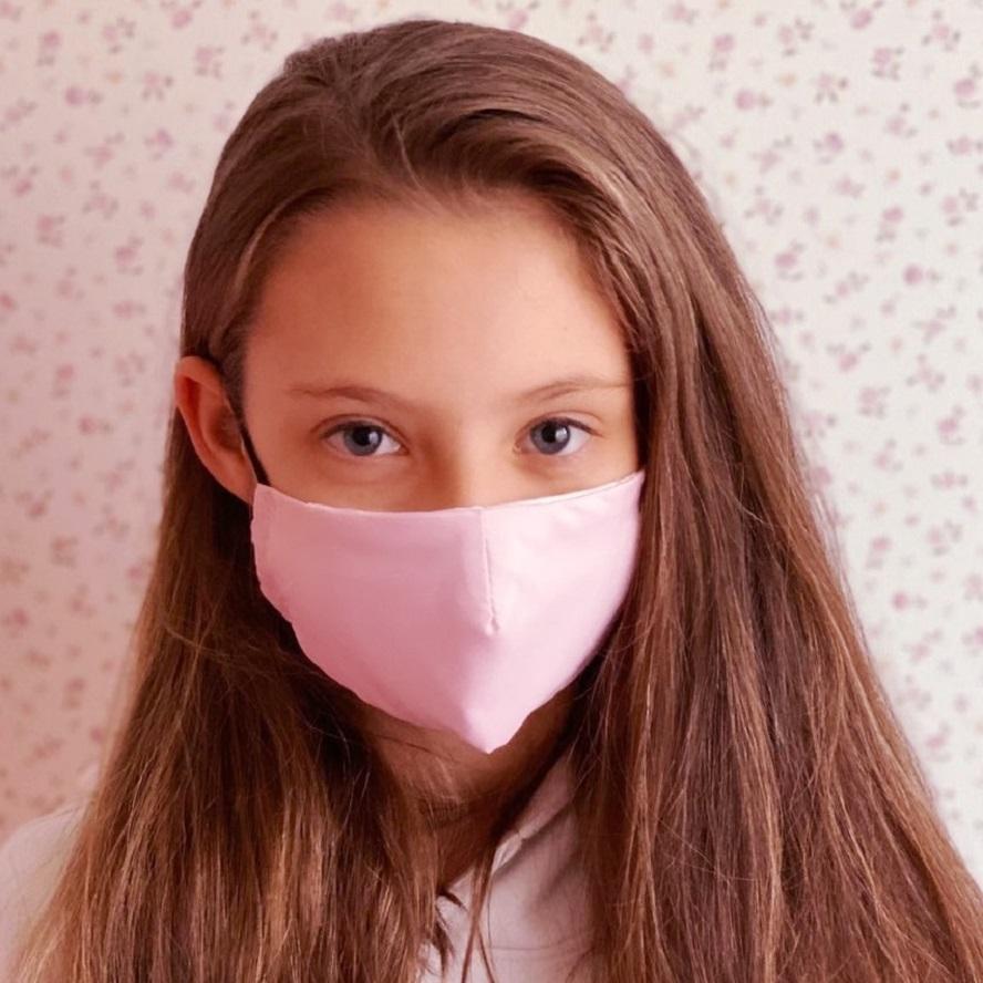Lasten kasvomaski Facewear uudelleenkaytettava vaaleanpunainen