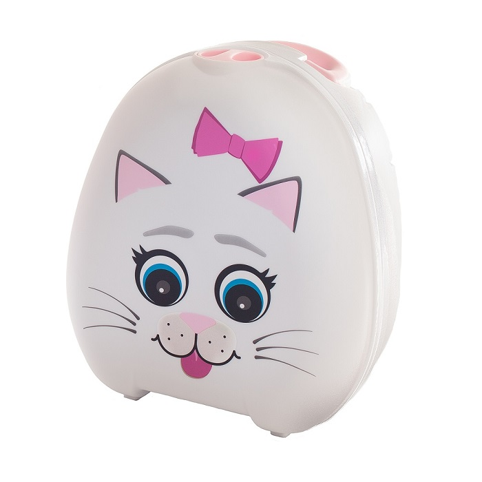 Kannettava potta My Carry potty kissa valkoinen