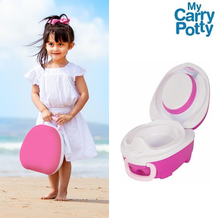 Kannettava matkapotta My Carry Potty vaaleanpunainen