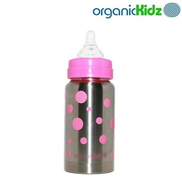 Organic Kidz Termos-tuttipullo - Vaaleanpunainen