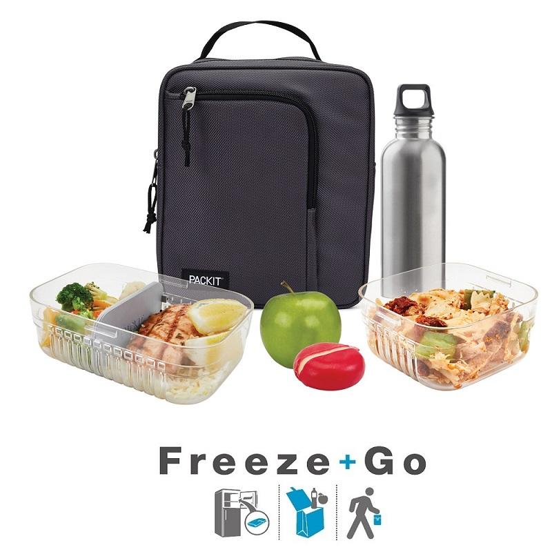 Liten kylväska Packit Commuter Lunch Bag Charcoal
