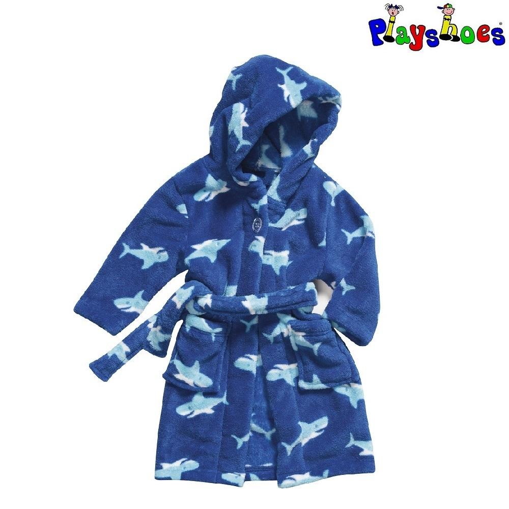 Lasten kylpytakki Playshoes sininen hai