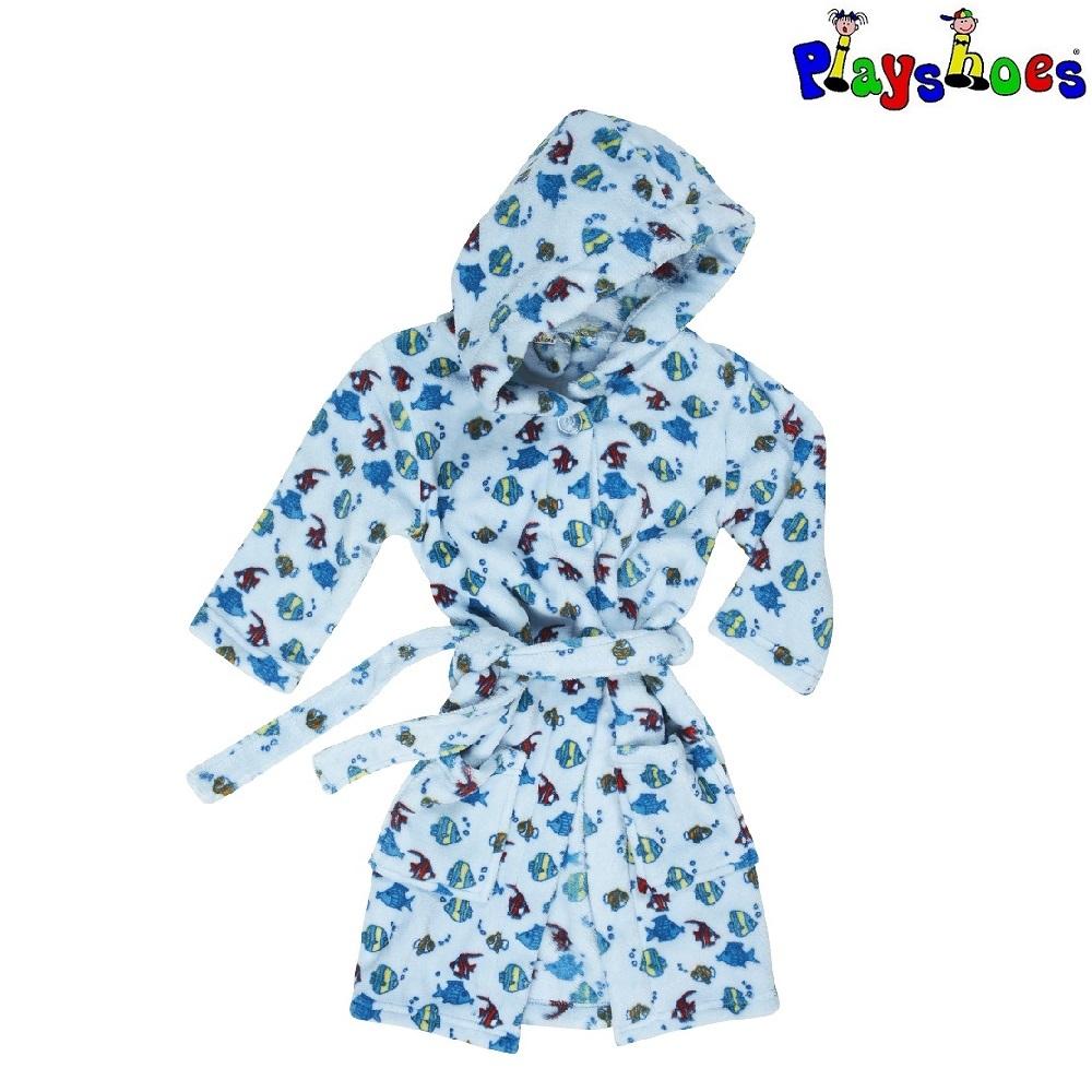 Lasten kylpytakki Playshoes sininen kalat