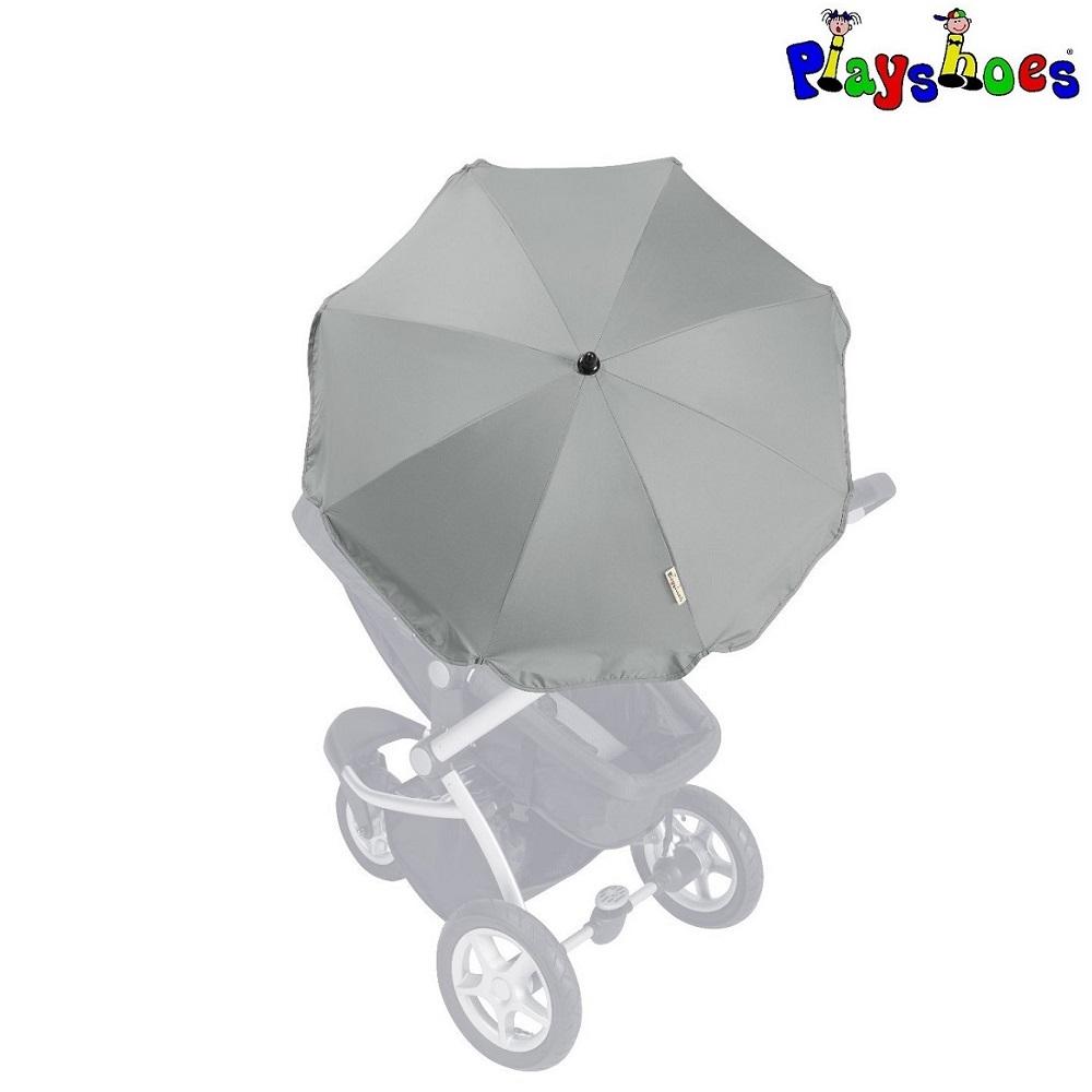Aurinkovarjo rattaisiin ja vaunuihin Playshoes harmaa