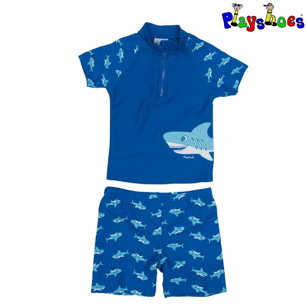Lasten Uv uimapaita ja uimahousut Playshoes Hai sinine