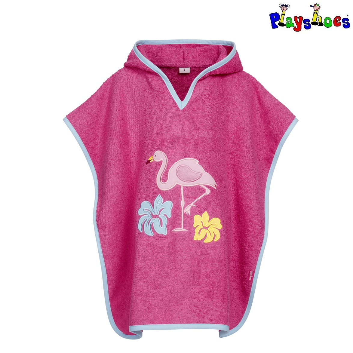 Badponcho barn Playshoes Flamingo